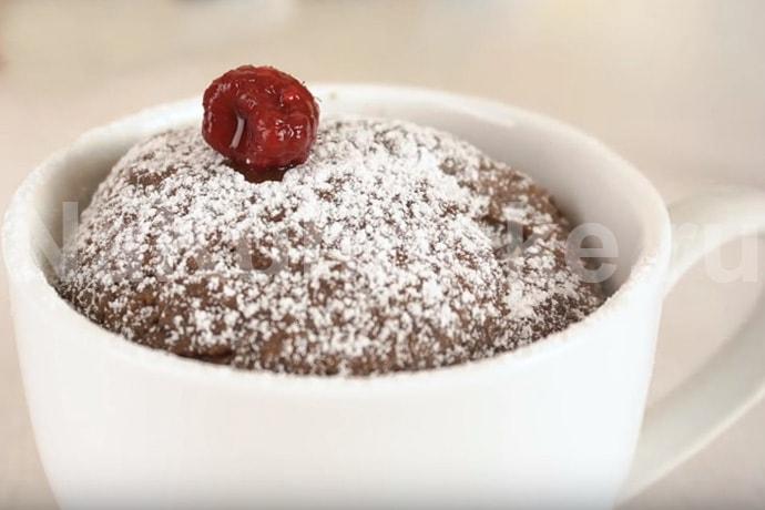 Шоколадный пирог за 3 минуты