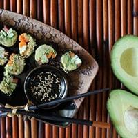 Роллы из авокадо